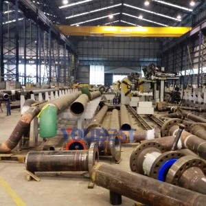 Steel Pipe Spool Pipeline Fabrciation Production Line (Fixed in the factory)